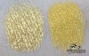 (L to R) Golden Lemon pigment, Bright Future