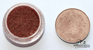 (L to R) Gift O' Glamour pigment, All That Glitters