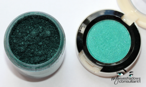 (L to R) Teal pigment, Surf U.S.A.